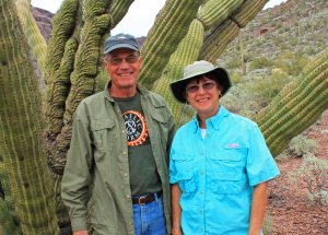 Posing with a crested organ pipe