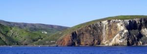 Approaching Santa Cruz Island