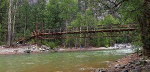 Footbridge over the Animas River