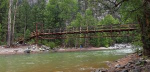 Footbridge over the Animas River