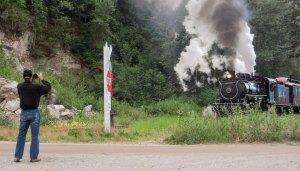 Ferroeqinologist chasing trains