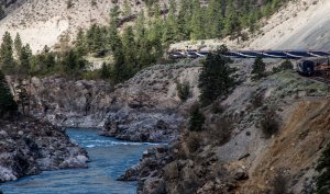 Rocky Mountaineer in the Fraser Canyon