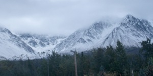 Fresh snow at Haines Junction