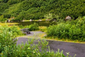 Alaska State Park campsite