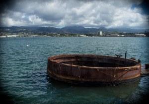 Gun turret of the sunken ship