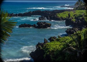 Volcanic coast near Hana