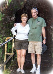 Entering lava tube