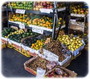 Beautiful tropical fruits and vegies