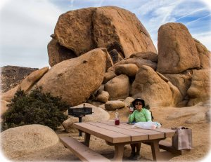 Monzogranite picnic area