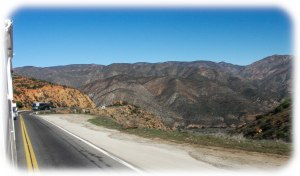 On the road in Baja