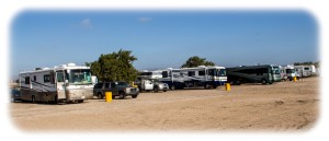 RVs at El Pabellon Beach