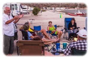 A caravan get together