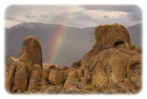 Boondocking rainbow