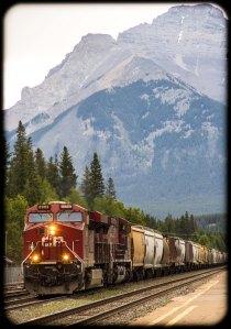 CP westbound at Banff
