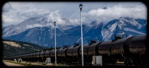 Long oil train at Jasper