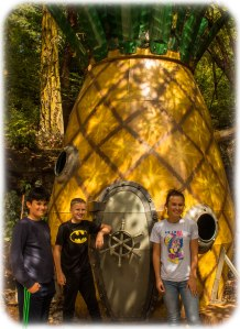 Sponge Bob's pineapple on San Juan Island