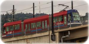 Contemporary Portland streetcar