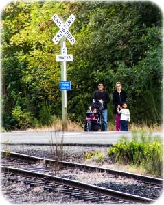 Family train spotting