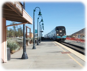 Metrolink near Acton CA